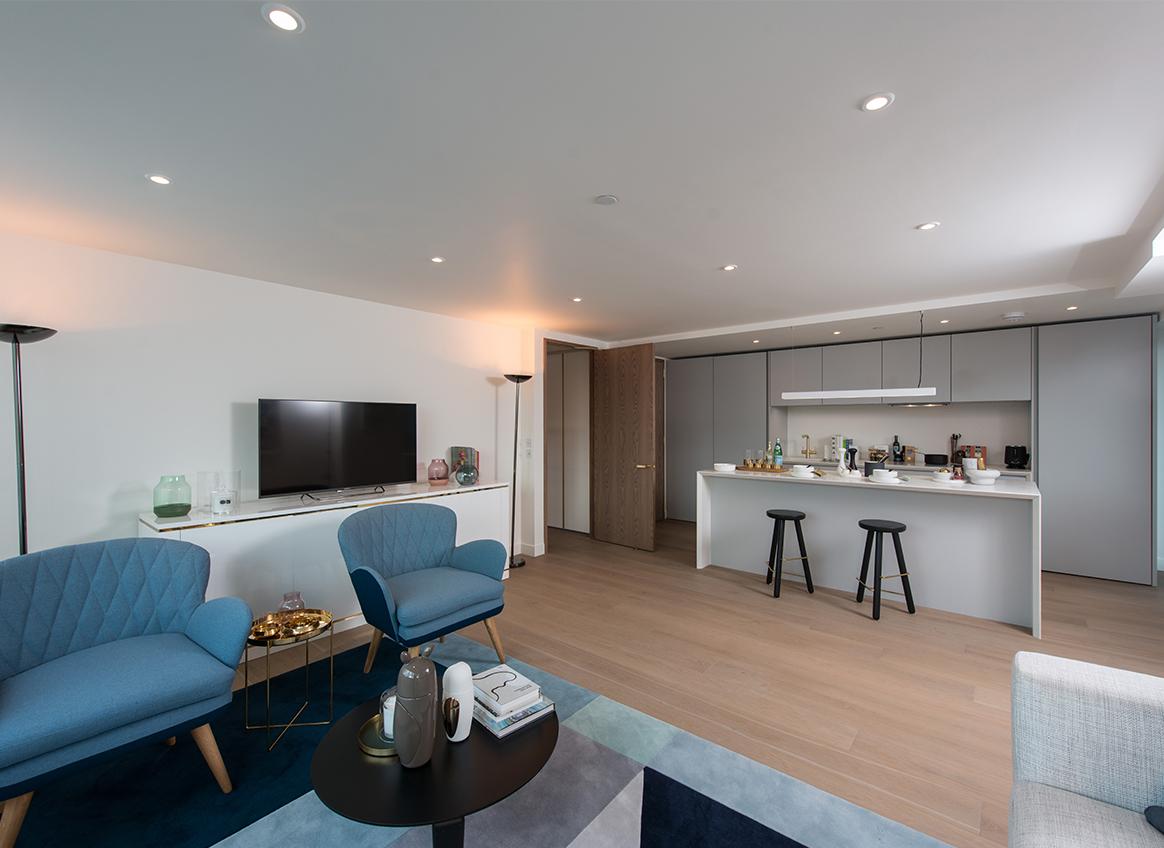 Blake Tower-plot 83-Jan 2018- lounge-kitchen